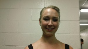 Alexe Gilles backstage at the Ice Dance Elite Summer 2012 Exhibition