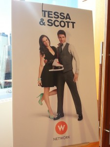 The promo poster for Tessa and Scott's reality show