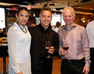 At the wine launch - the Stojkos with wine maker Peter Jensen