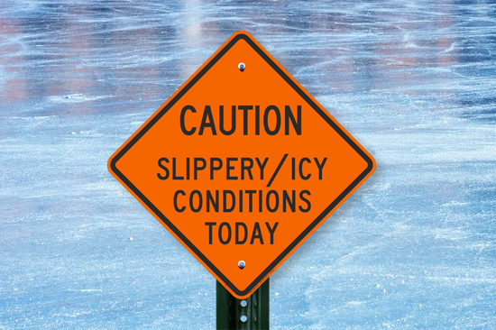 Ice is slippery after all!